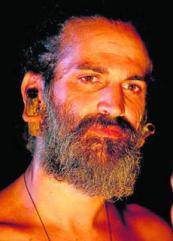 El actor David Marín, caracterizado como Gonzalo Guerrero para un documental.