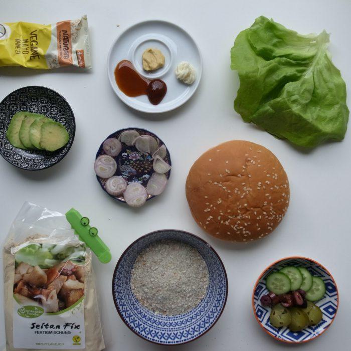 Wenn der große Hunger kommt hilft nur der Seitan/Hafer Burger (vegan)