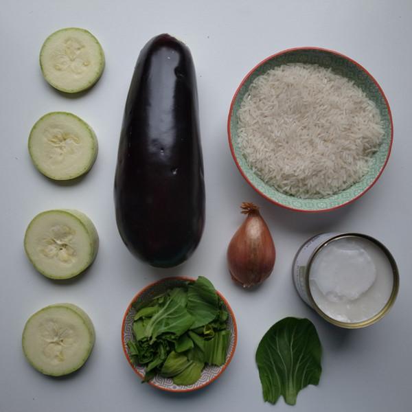 Gemüse Kokos Curry mit Reis - vegan, leicht und lecker