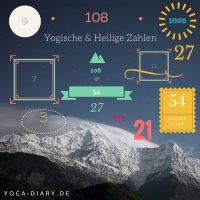 1008, 108, 54, 27, 11, 9, 7, 3 - Alles über yogische & heilige Zahlen