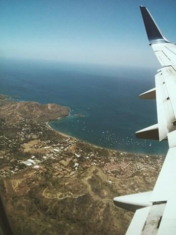 Dans l'avion pour le Costa Rica