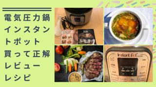 電気圧力鍋 インスタントポットを買って大正解、レビュー・簡単レシピ【Instant Pot DUO MINI】