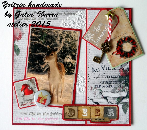 Yoltzin handmade cards - Scrapberry's December challenge card