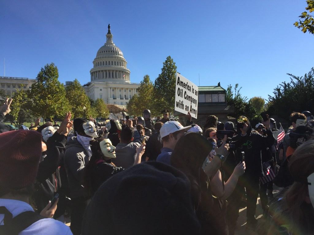 Anonymous are regular visitors of Washington D.C. Photo: Andrej Mrevlje