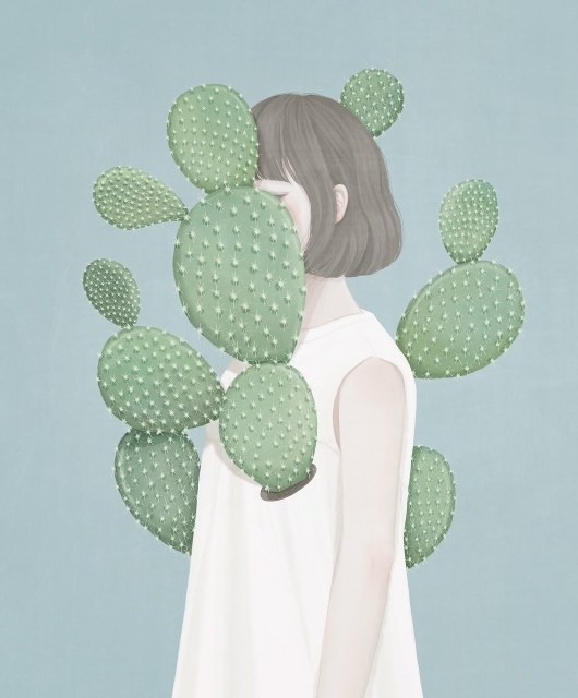 상처 (Cactus) / 65.1x80.3 / Digital Painting