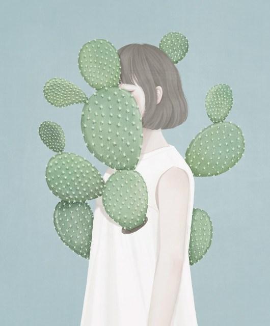 상처 (Cactus) / 65.1x80.3 / Digital Painting