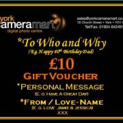 £10 Personalised Voucher