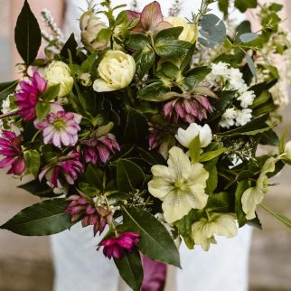 Spring Bouquet with Hellebores