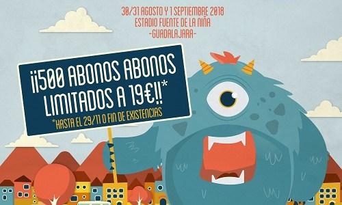 ¡¡Primeros abonos limitados para Festival Gigante 2018!!