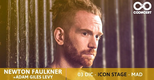 Newton Faulkner y Adam Giles Levy el domingo en Madrid.