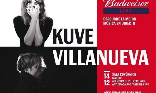 VILLANUEVA actúa la semana que viene junto a KUVE en la sala Copérnico de Madrid