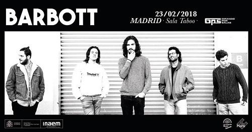 Sorteamos una entrada doble para el concierto de GPS del 23/Feb con BARBOTT en la Taboo (Madrid).