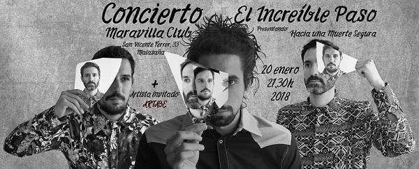 Sorteamos dos entradas dobles para el concierto de El Increíble Paso en la Maravillas Club (Madrid)