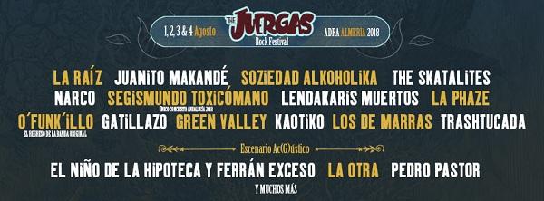 THE JUERGAS ROCK FESTIVAL arranca el año anunciando nuevas incorporaciones al cartel.
