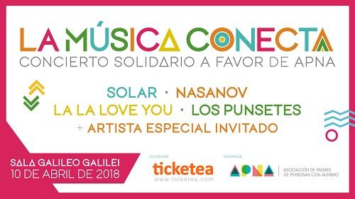 """""""La Música Conecta"""" será el primer concierto solidario a favor de APNA"""