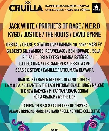 Jack White, David Byrne o N.E.R.D, algunas de las estrellas del Festival CRUILLA