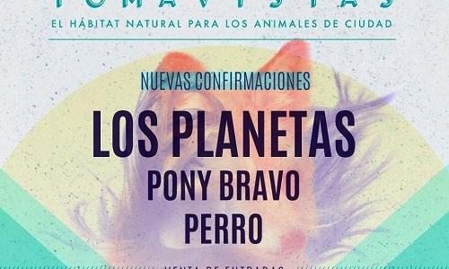 TOMAVISTAS 2018 confirma a LOS PLANETAS, PONY BRAVO y PERRO