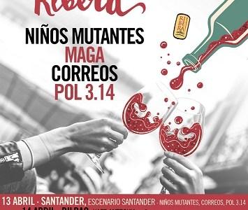 NIÑOS MUTANTES, MAGA, CORREOS Y POL 3.14 en la gira #EspírituRibera 2018.