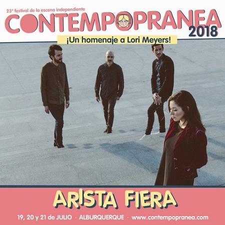ARISTA FIERA ganadores del concurso de bandas CONTEMPOPRANEA 2018.