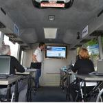 Our bus recycle program has enabled a digital classroom on wheels