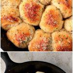 Garlic Parmesan Skillet Rolls Recipe