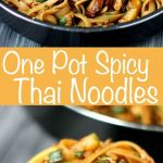 One Pot Spicy Thai Noodles