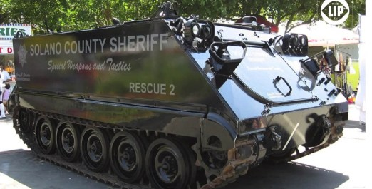 a tank, an armored vehicle of Soilano county