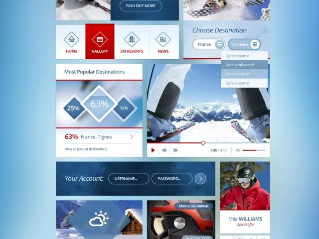 Snowflakes – Free Winter UI Kit