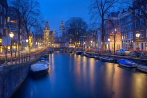 Beautiful Amsterdam at Dusk
