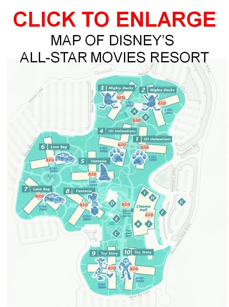 ... Map Disneys All Star Movies Resort ...
