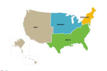 free usa region powerpoint map free powerpoint templates