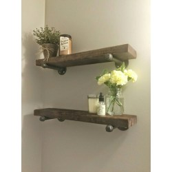 Small Crop Of Wooden Shelf For Bathroom