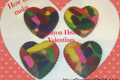 How To Make: Crayon Heart Valentines