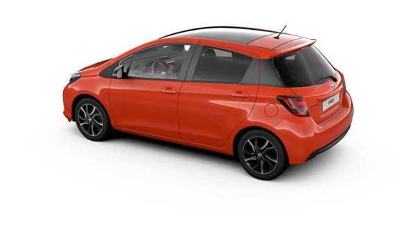 Toyota Yaris Orange Edition rear