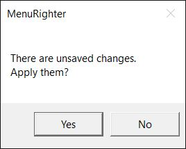 unsaved changes
