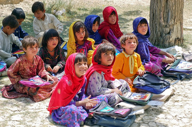 girls learning studying classroom