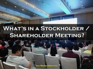 What's in a Stockholder / Shareholder Meeting?