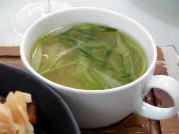 miso soup at The Magazine Restaurant | ytTastes | Yvanne Teo