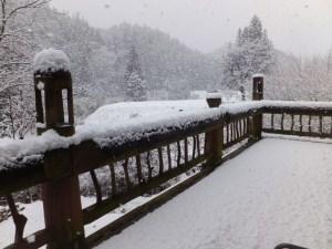 デッキ・大雪
