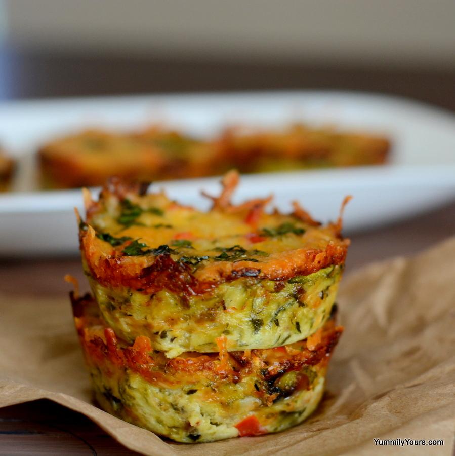 Zucchini Hashbrown Muffins