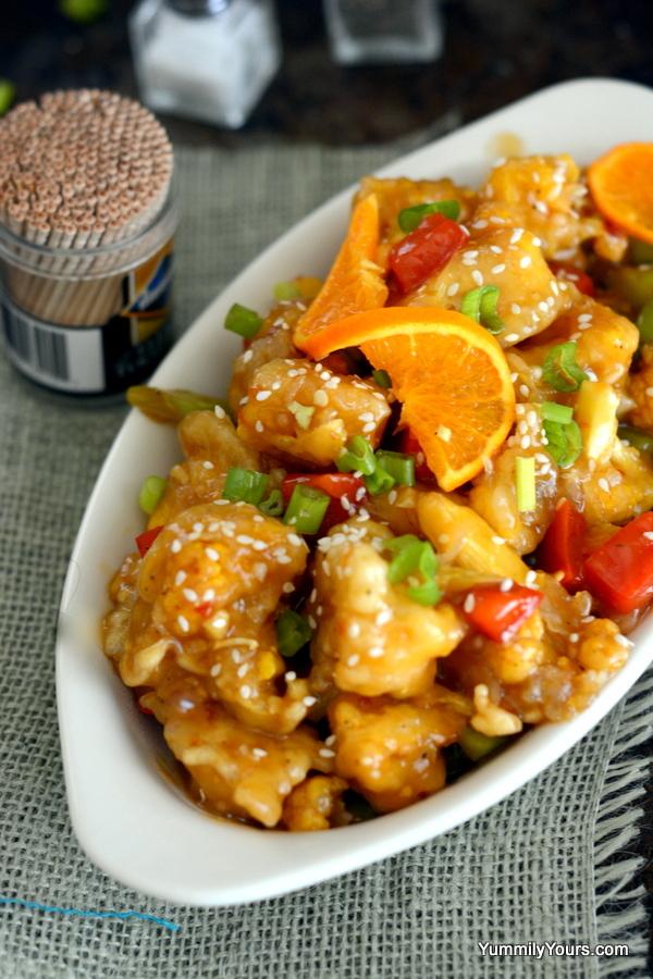 Orange cauliflowera vegetarians orange chicken yummily yours orange cauliflower forumfinder Gallery
