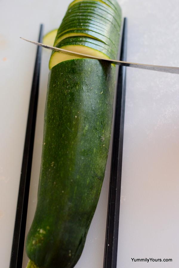 Baked Hasselback Zucchini