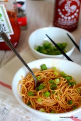 Simple Sriracha Noodles