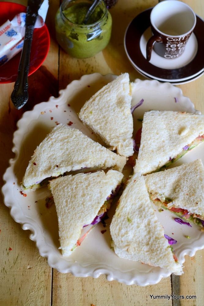 Bombay Sandwich, finger sandwiches