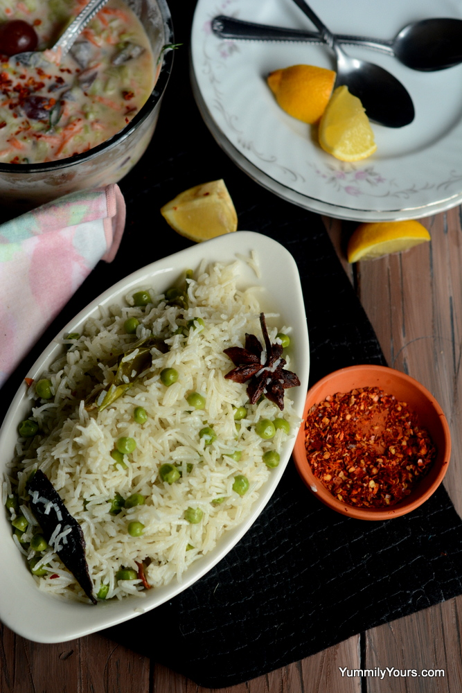PEAS PULAO | AN EASY & FRAGRANT PILAF