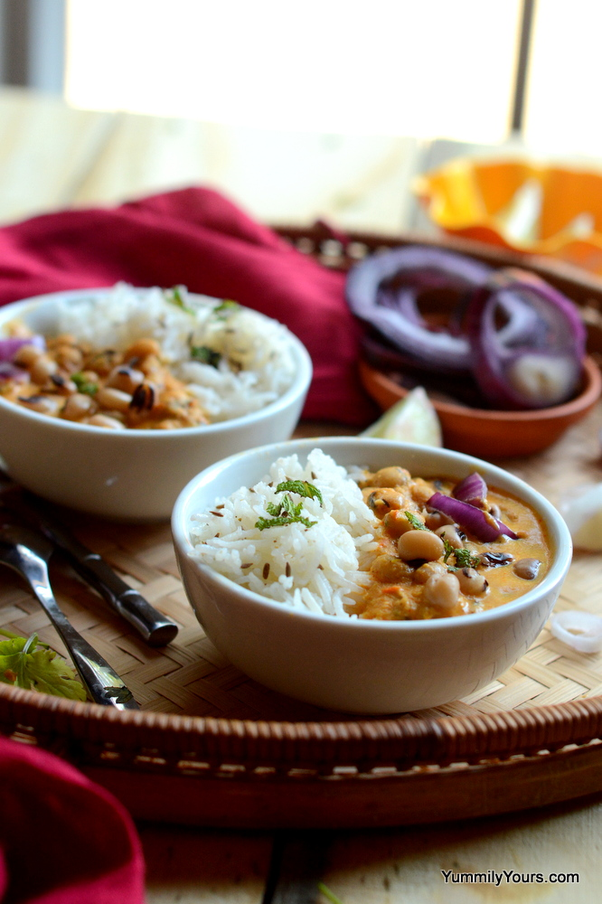 Chawli Masala, Beans & Rice deliciously served