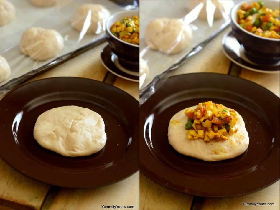 Bangalore's famour Iyengar Bakery Palya bun, how to make stuffed buns