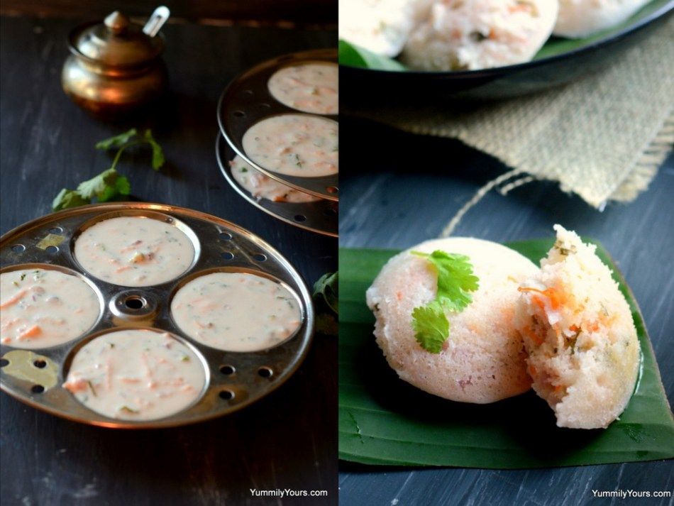 Fermented rice cakes, a staple Indian breakfast