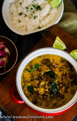 Kerala Kadala Curry, chickpeas in coconut milk curry
