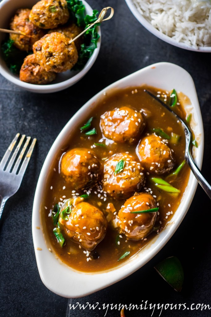 Veg manchurian gravy veggie balls in cantonese sauce yummily yours veg manchurian gravy veggie meatballs dunked in a cantonese sauce a very popular indo forumfinder Image collections